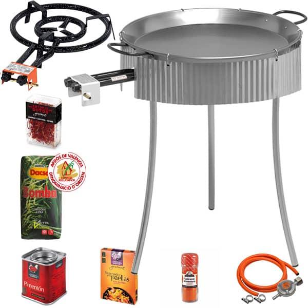 Zestaw kuchenka gazowa do paelli