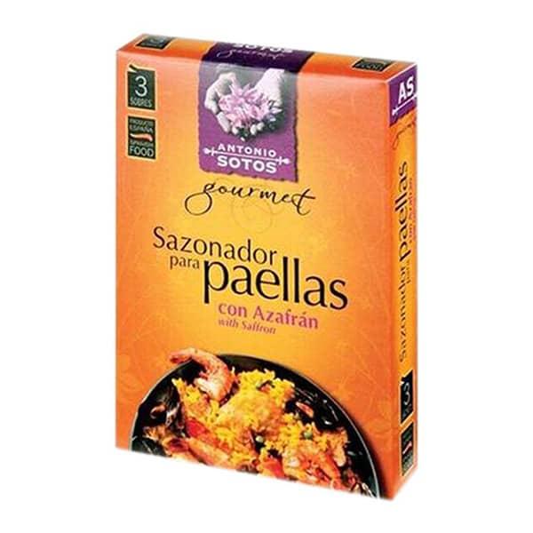 Przyprawa do paelli z szafranem, 100% naturalna, dla uzyskania bardziej autentycznego smaku paelli.
