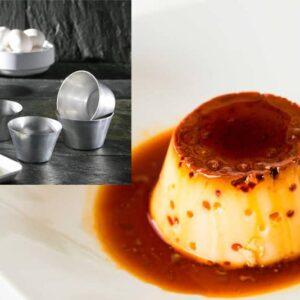 """Pojemnik aluminiowy do przygotowania deseru """"flan de huevo"""""""